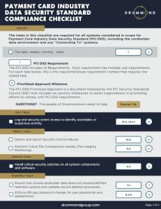 Drummond PCI DSS Compliance Checklist